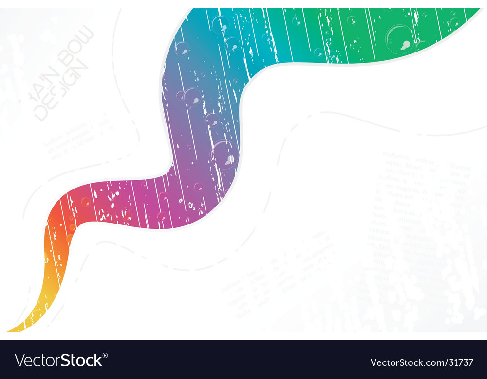 White wavy rainy rainbow background vector | Price: 1 Credit (USD $1)
