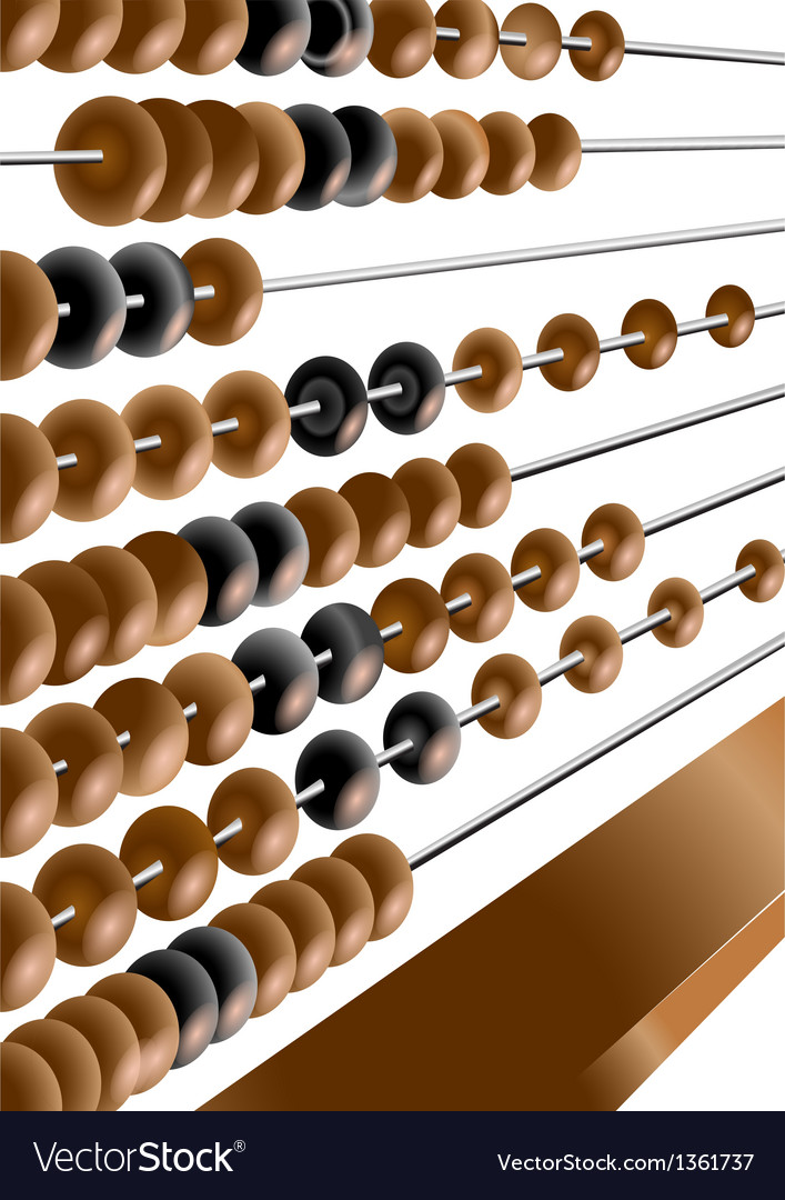 Wooden abacus vector | Price: 1 Credit (USD $1)