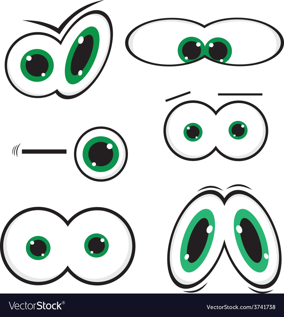 Green toon eyes vector | Price: 1 Credit (USD $1)