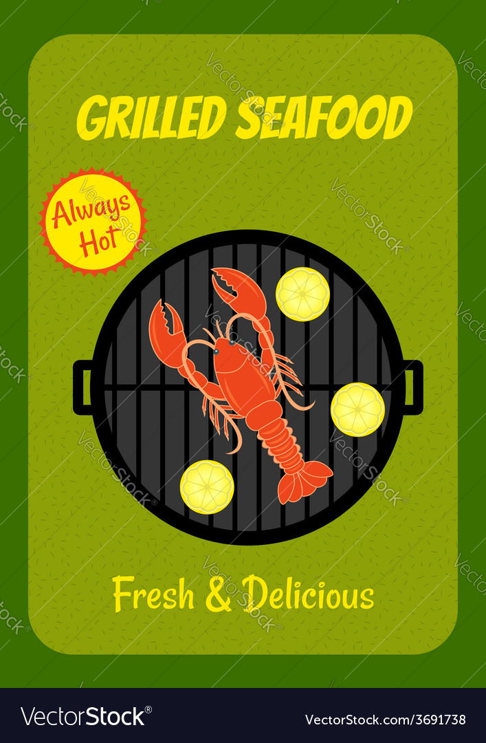 Grilled lobster vector | Price: 1 Credit (USD $1)