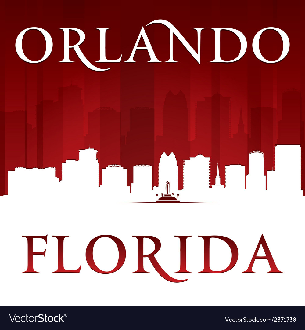 Orlando florida city skyline silhouette vector | Price: 1 Credit (USD $1)