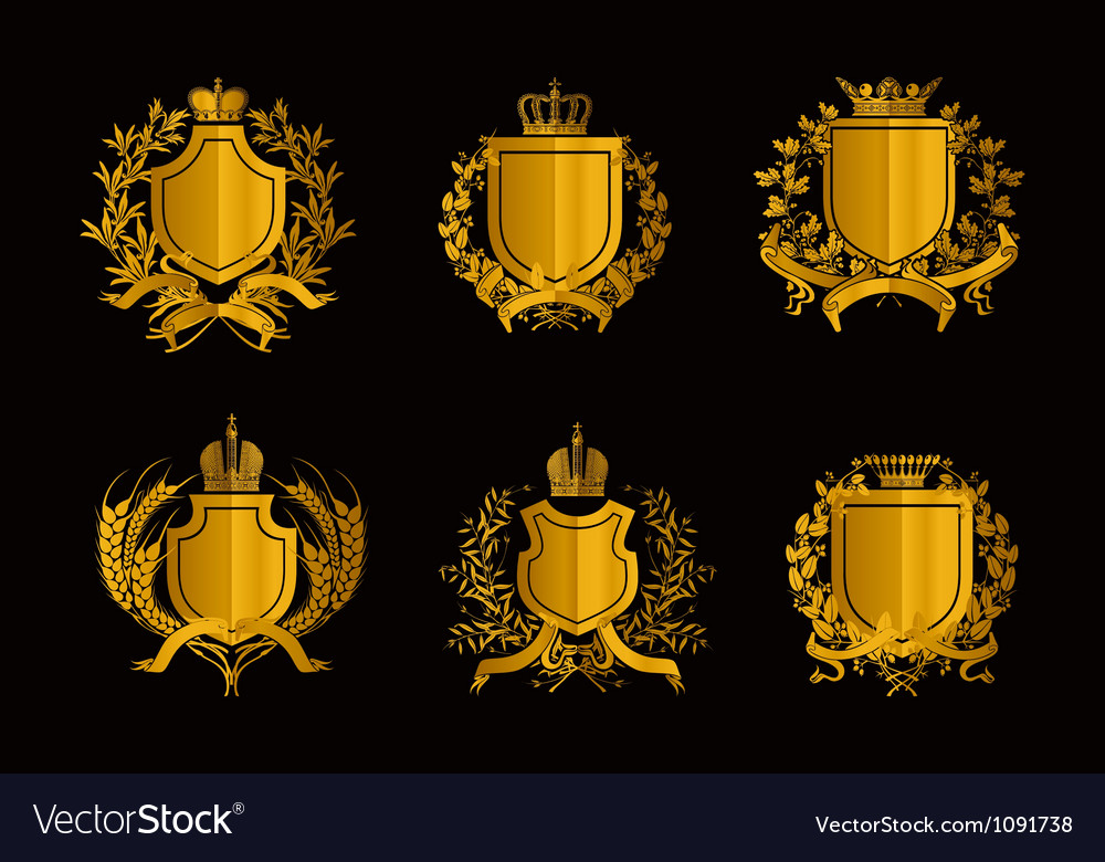 Shields set of design elements vector | Price: 1 Credit (USD $1)