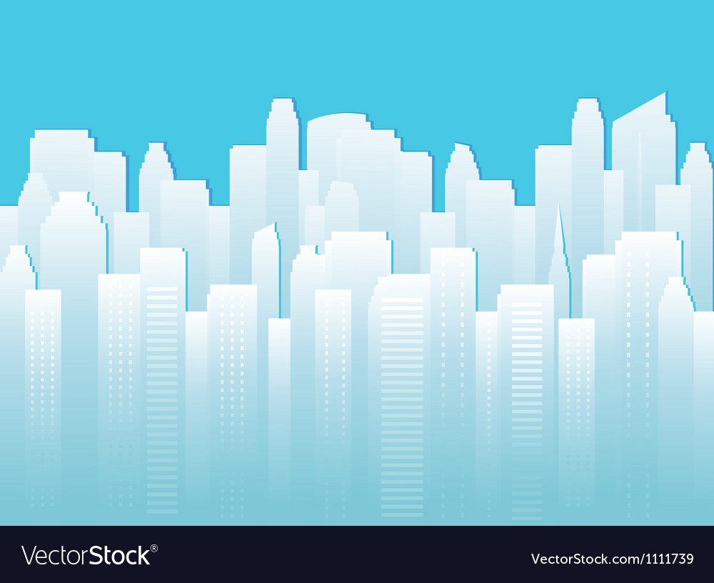 Background with urban landscape vector | Price: 1 Credit (USD $1)
