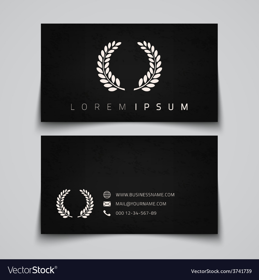 Business card template laurel concept logo vector | Price: 1 Credit (USD $1)