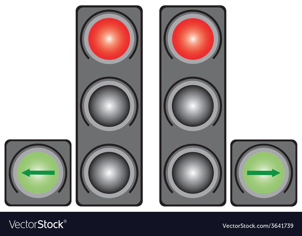 City traffic light vector | Price: 1 Credit (USD $1)