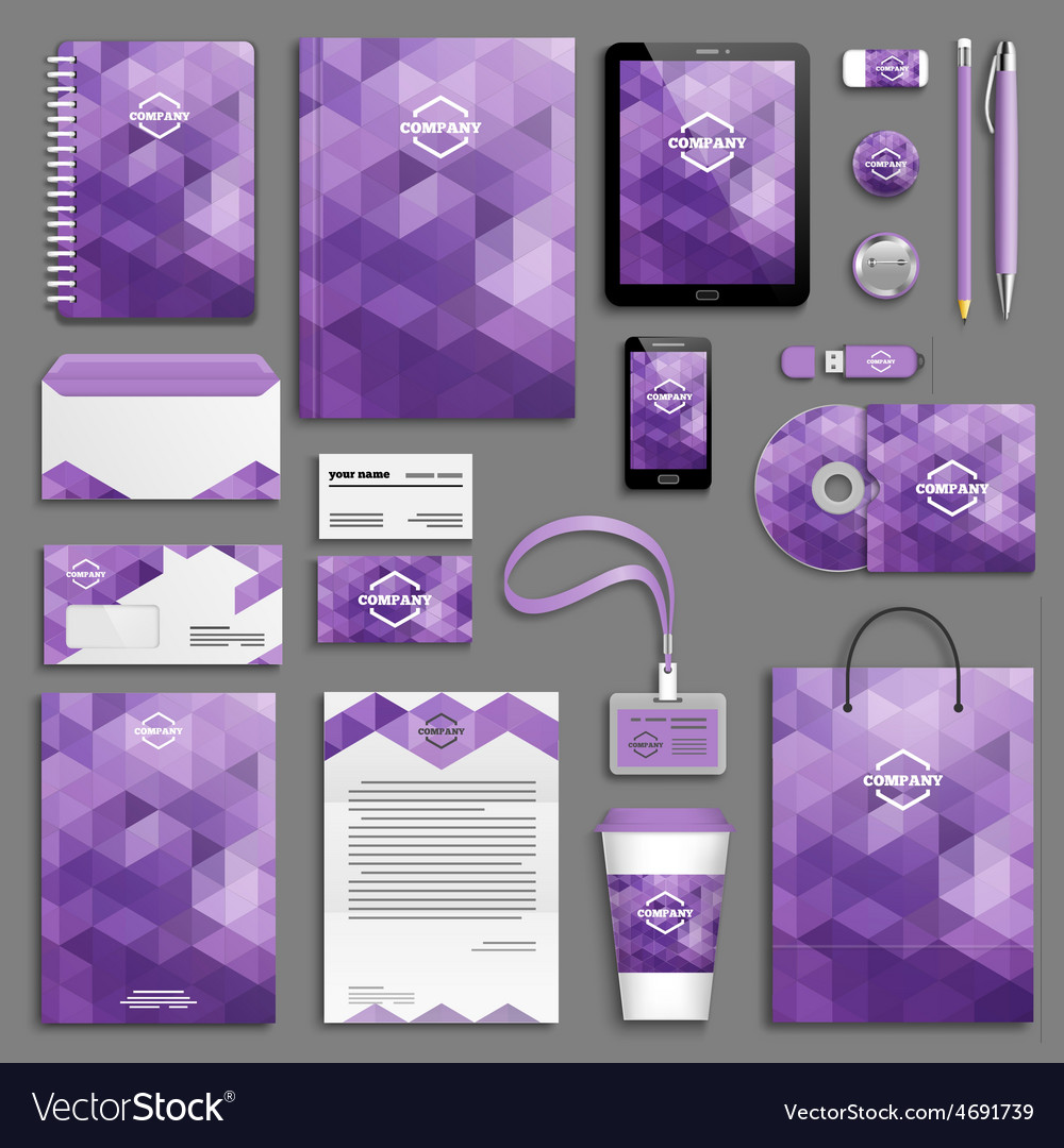 Corporate identity template set vector | Price: 3 Credit (USD $3)