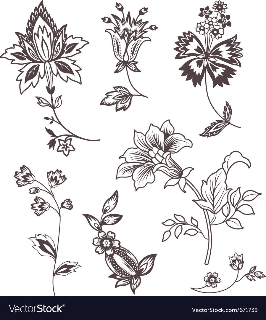 Decor floral elements vector | Price: 1 Credit (USD $1)