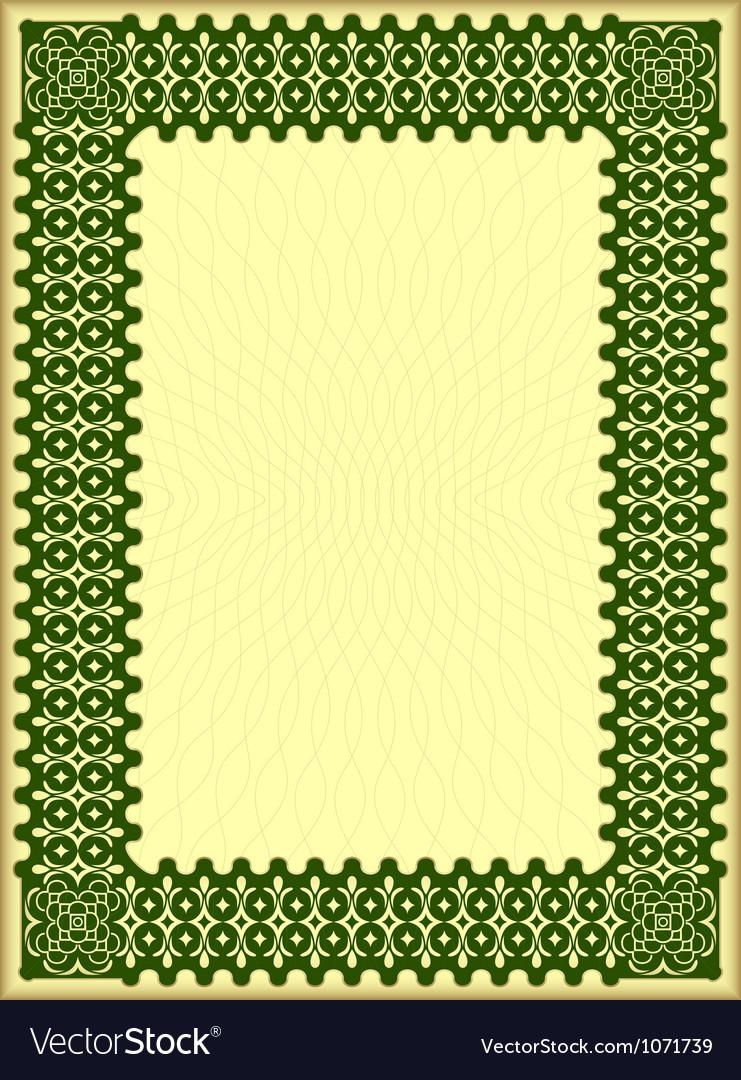 Decorative certificate vector | Price: 1 Credit (USD $1)