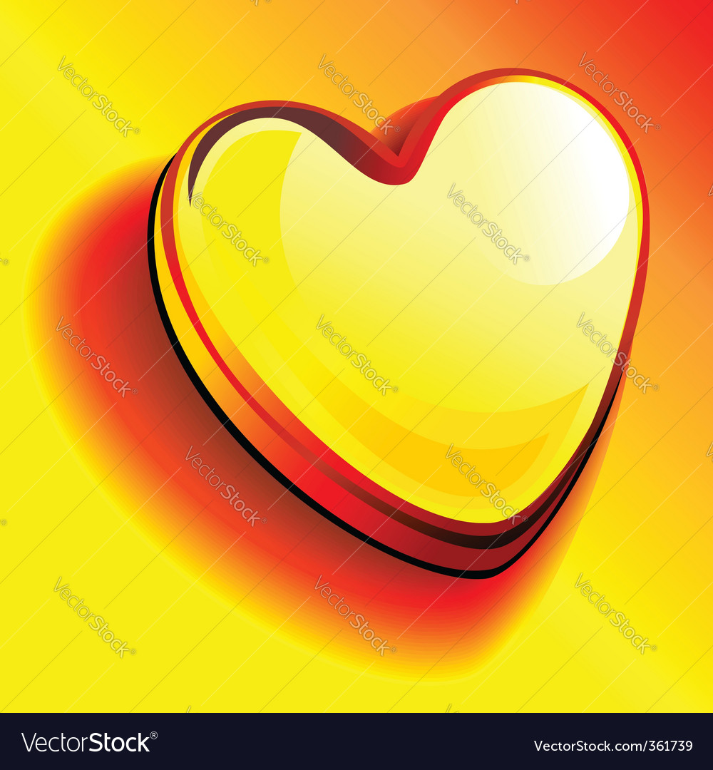Gold bullion heart vector | Price: 1 Credit (USD $1)