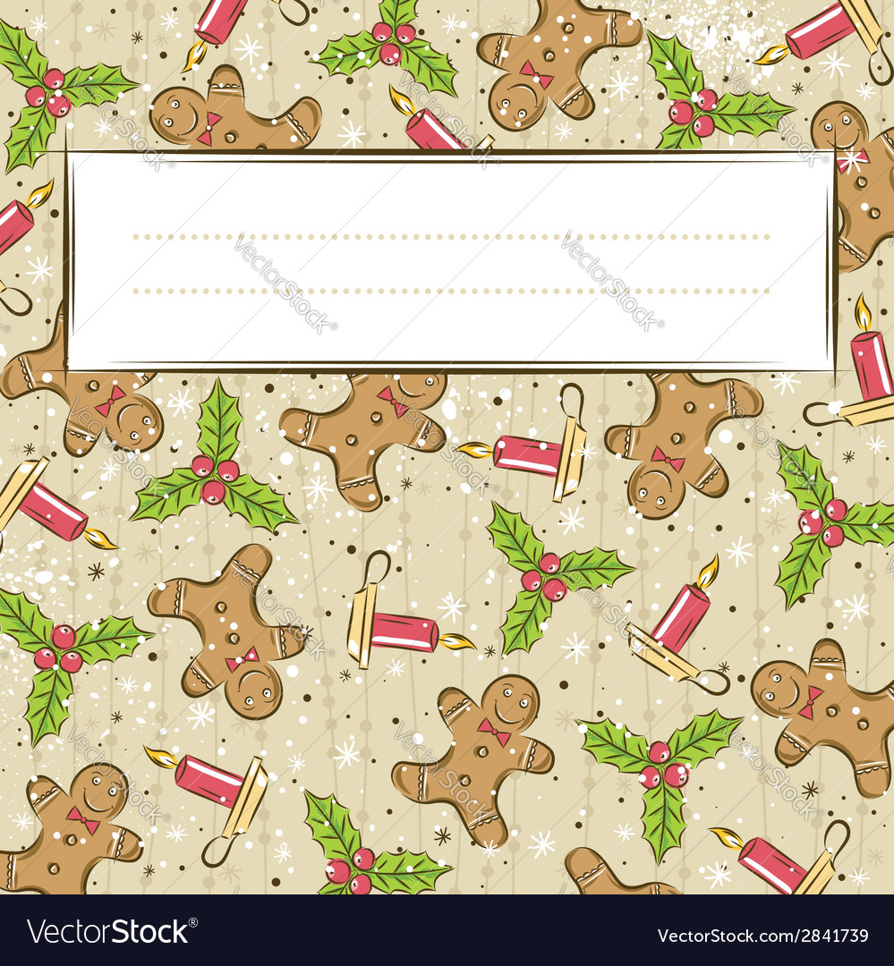 Grunge background with christmas elements vector | Price: 1 Credit (USD $1)