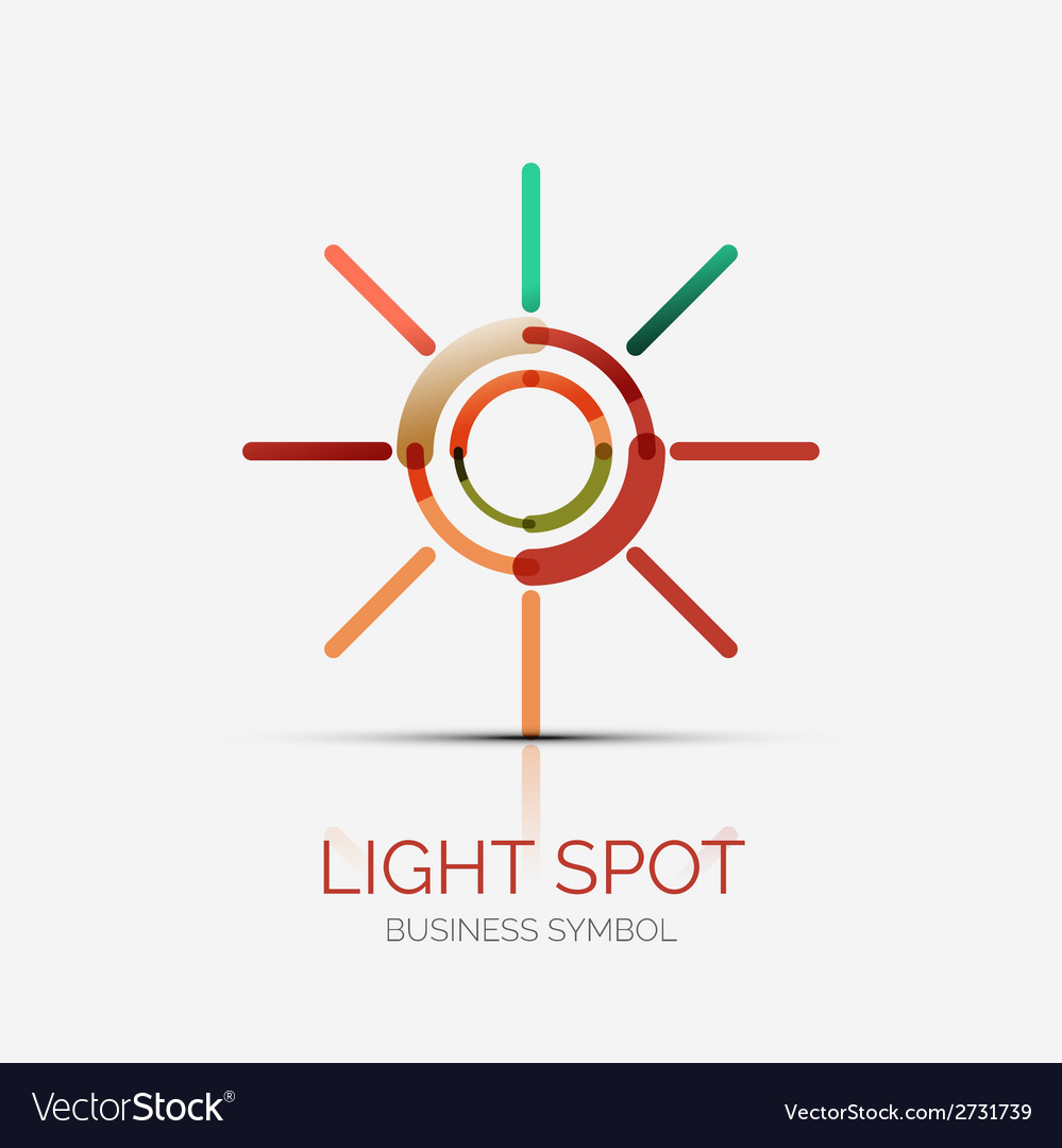 Light spot icon company logo business concept vector | Price: 1 Credit (USD $1)