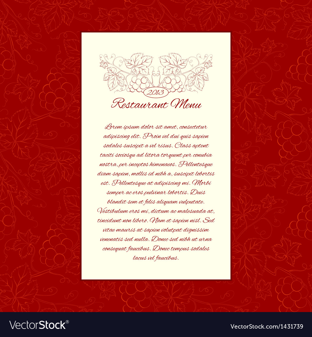 Menu card gesign vector | Price: 1 Credit (USD $1)