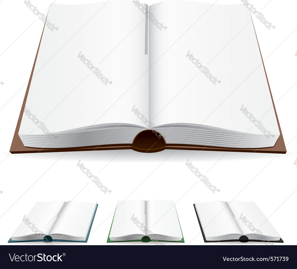Open book white pages vector | Price: 1 Credit (USD $1)