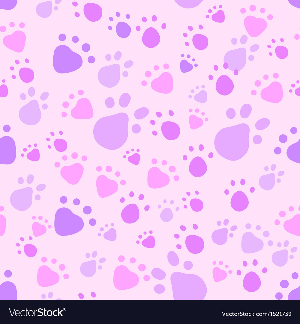 Pink and violet pet legs imprint seamless pattern vector | Price: 1 Credit (USD $1)