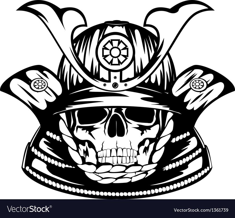 Skull in samurai helmet vector | Price: 1 Credit (USD $1)
