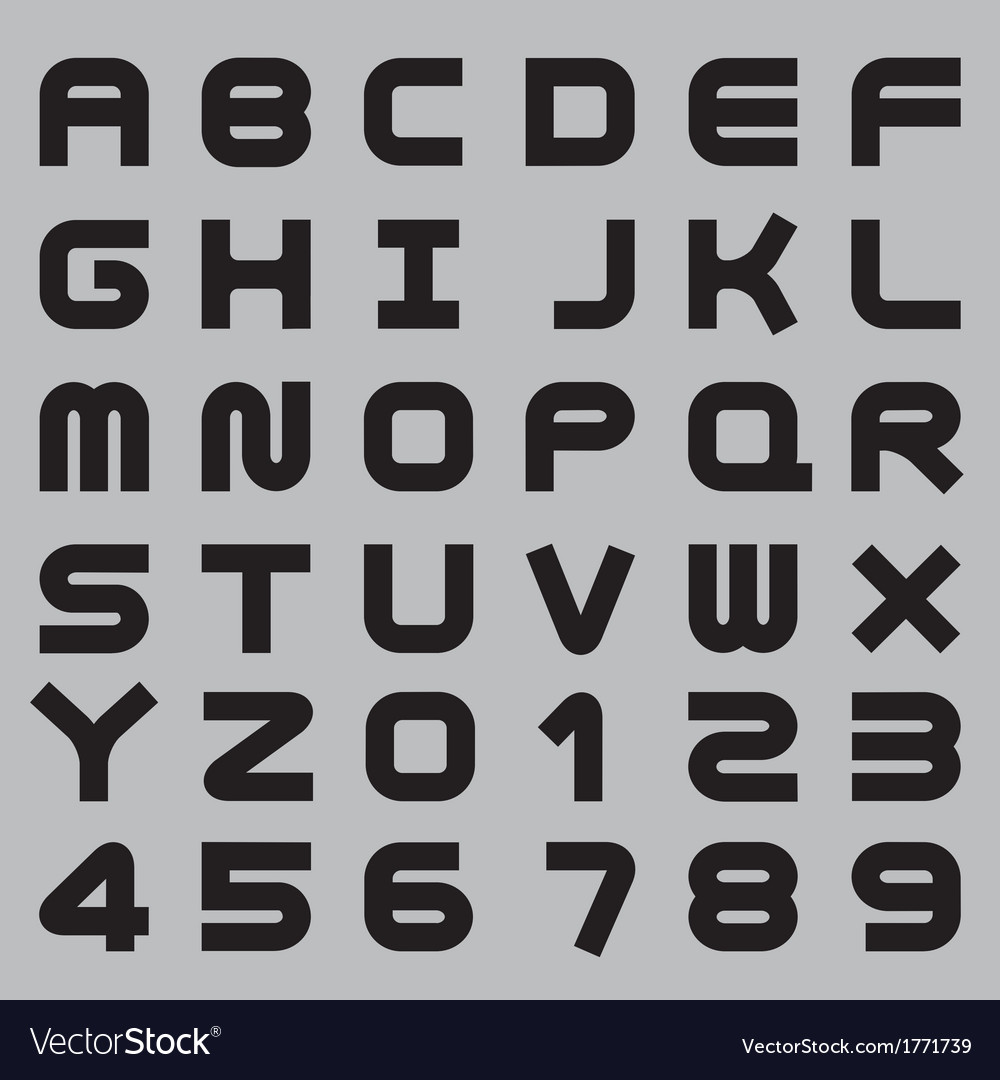 Smooth alphabet set vector | Price: 1 Credit (USD $1)