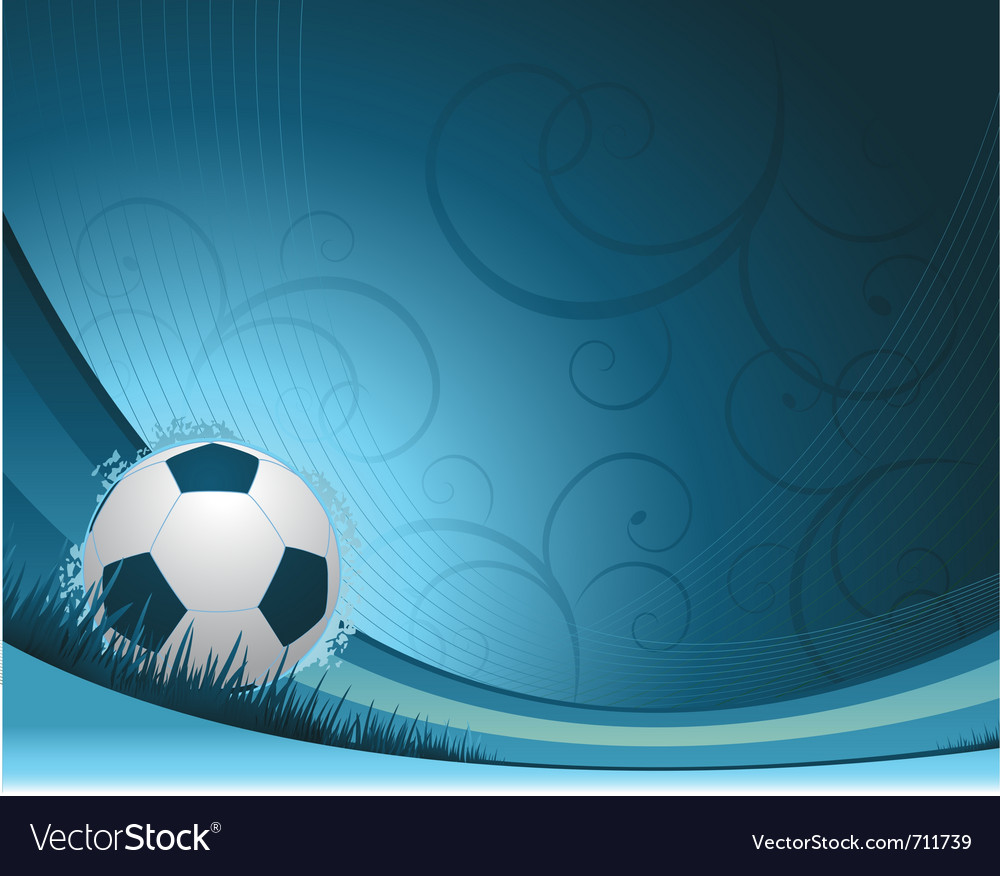 Soccer background concept vector | Price: 1 Credit (USD $1)