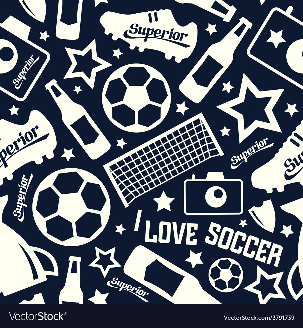 Soccer seamless pattern vector   Price: 1 Credit (USD $1)