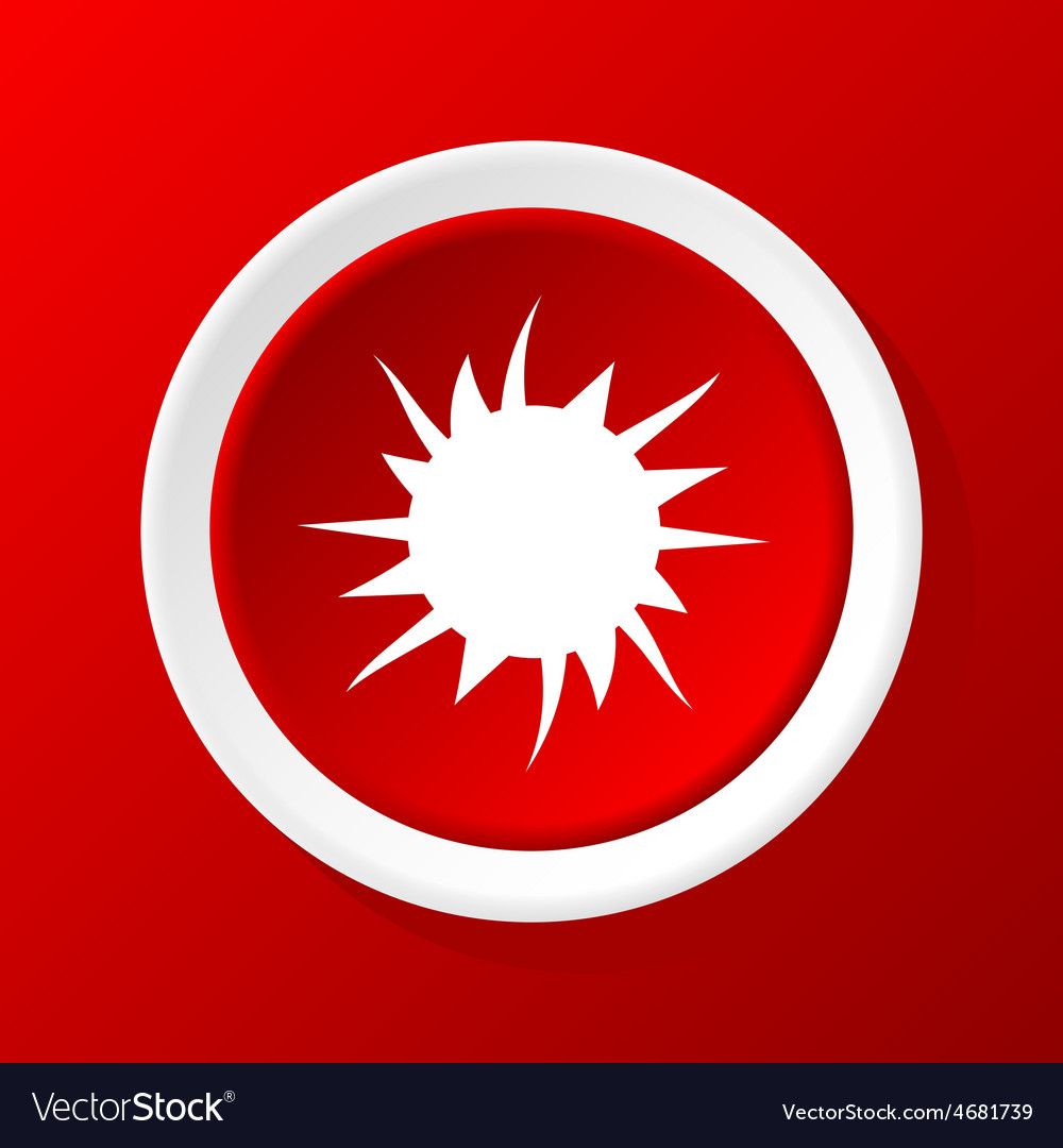 Starburst icon on red vector | Price: 1 Credit (USD $1)