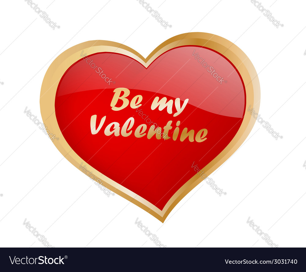 Be my valentine vector | Price: 1 Credit (USD $1)