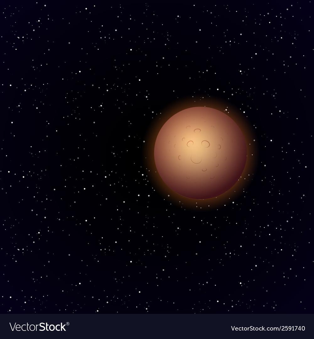 Cartoon mercury in open space vector   Price: 1 Credit (USD $1)