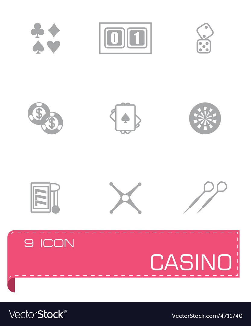 Casino icon set vector | Price: 1 Credit (USD $1)