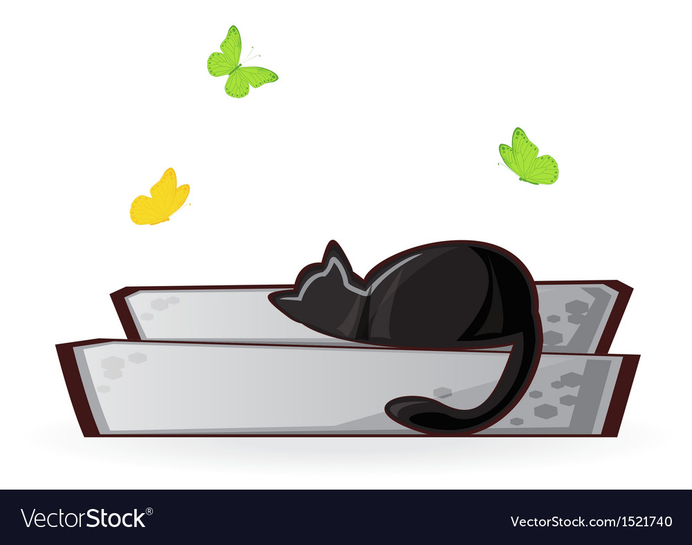 Cat on the porch vector | Price: 1 Credit (USD $1)