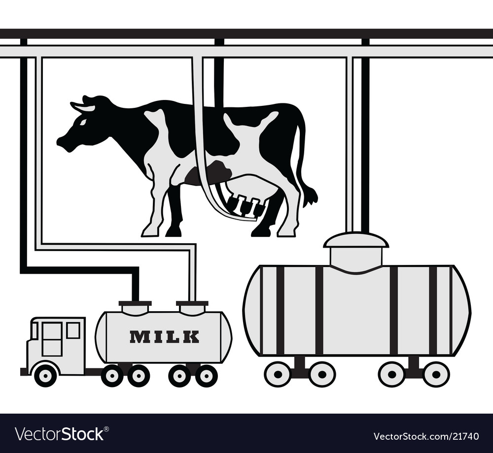 Dairy farm plan vector | Price: 1 Credit (USD $1)