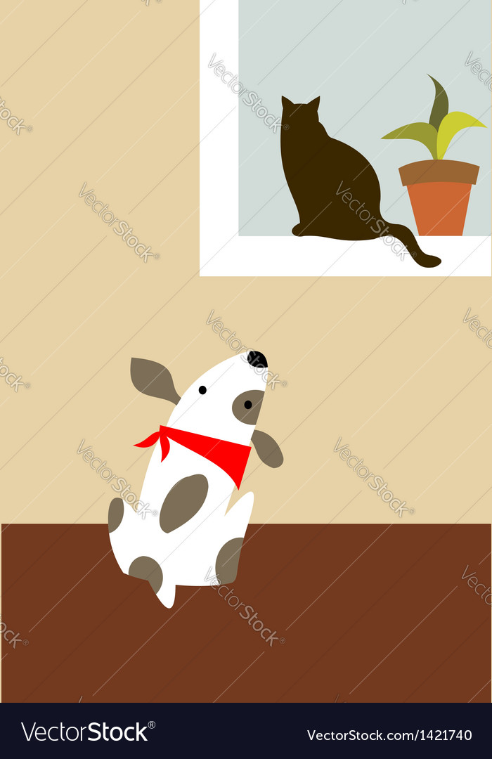 The dog and cat vector | Price: 1 Credit (USD $1)