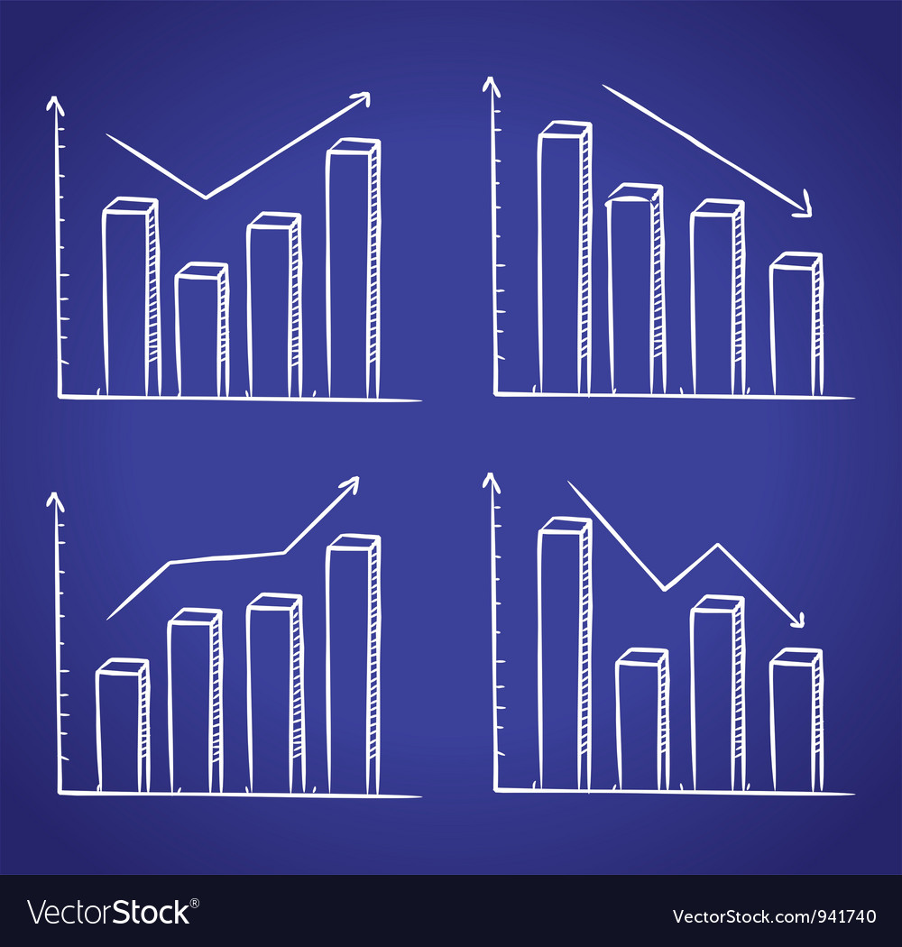 Graphic chart in doodle style vector | Price: 1 Credit (USD $1)