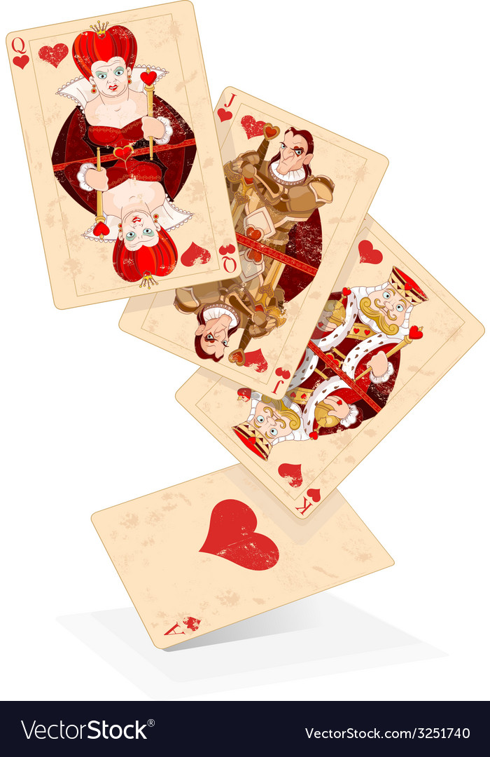 Hearts play cards vector | Price: 1 Credit (USD $1)