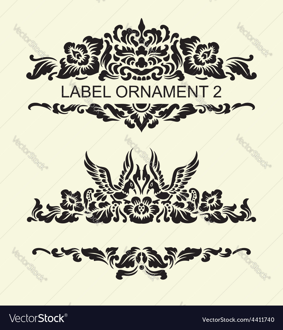 Label ornament 2 vector | Price: 1 Credit (USD $1)
