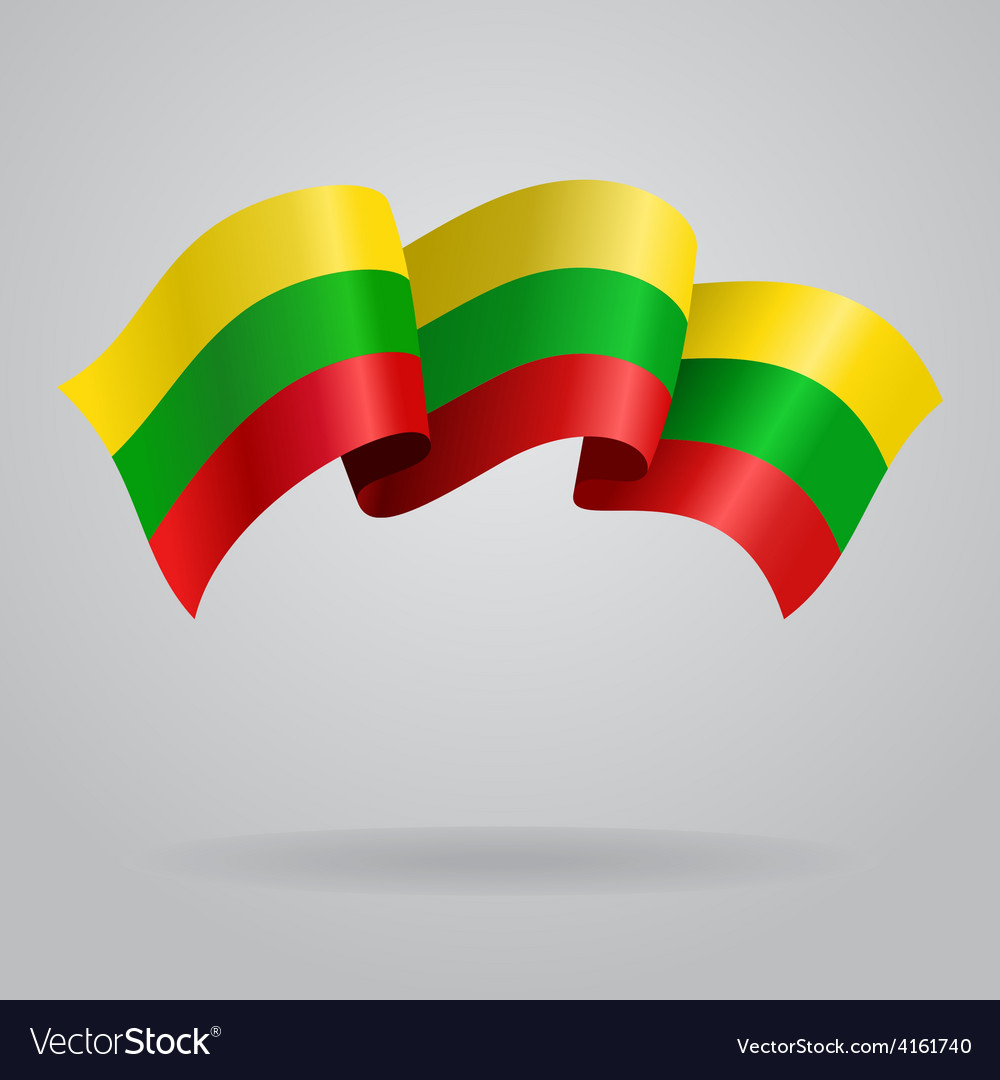 Lithuanian waving flag vector | Price: 3 Credit (USD $3)