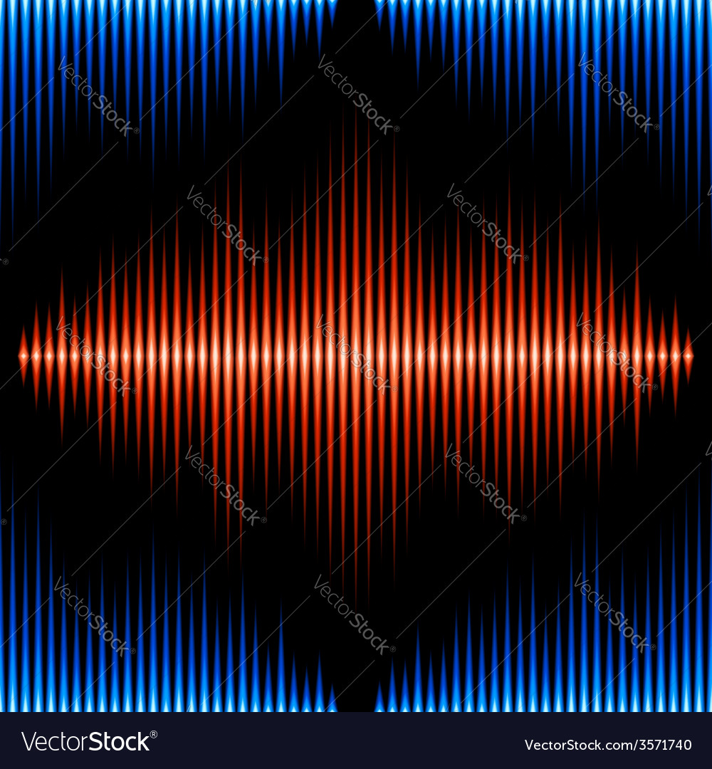 Seamless pattern with sound waveform vector | Price: 1 Credit (USD $1)
