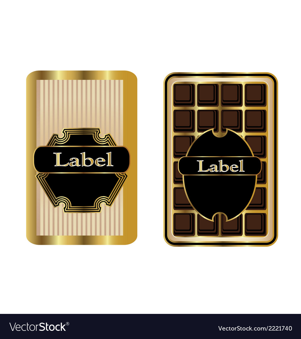 Set 2 gold framed labels vector | Price: 1 Credit (USD $1)