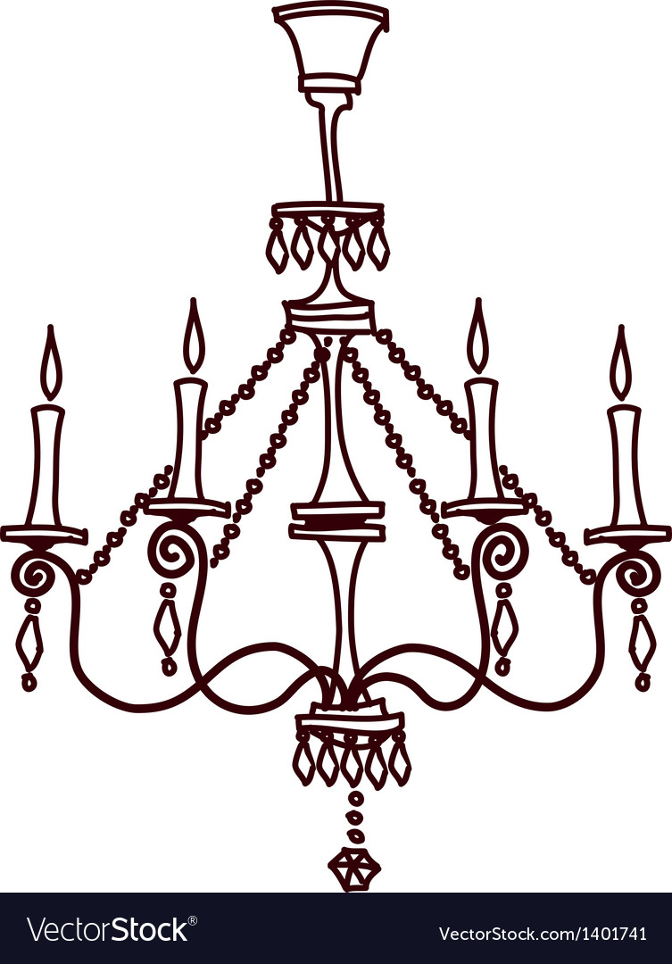A view of chandelier vector | Price: 1 Credit (USD $1)