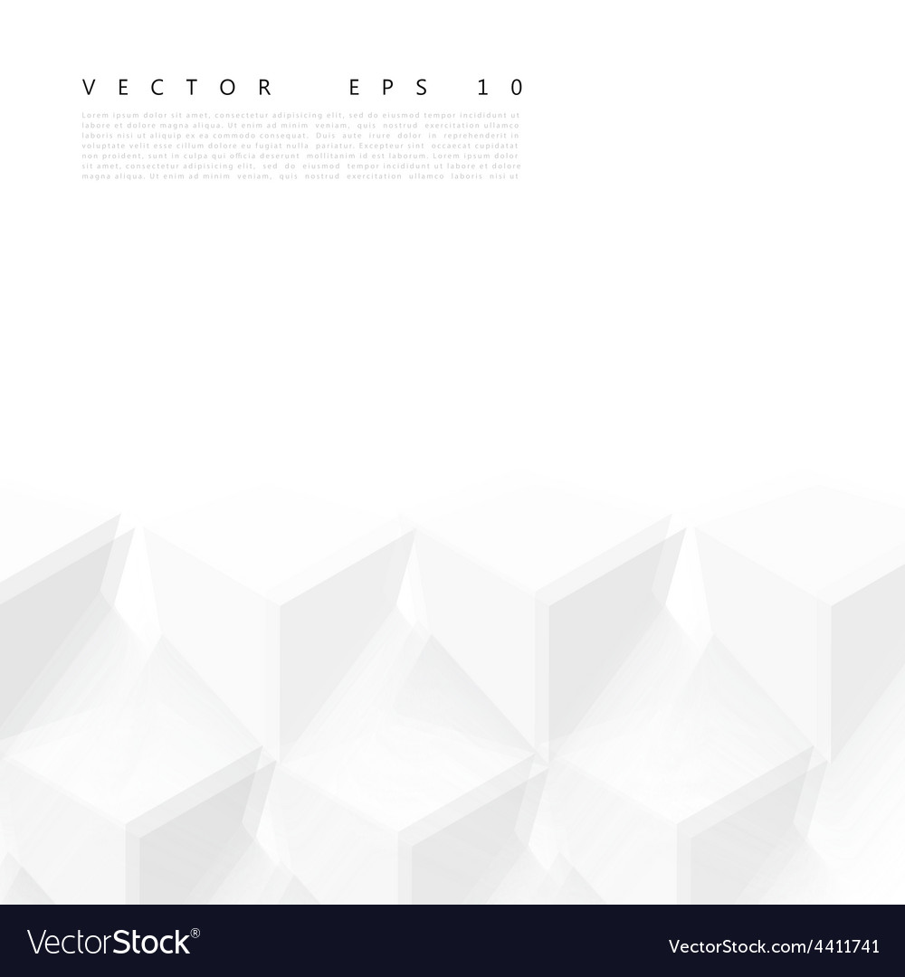 Abstract geometric shape from gray cubes vector   Price: 1 Credit (USD $1)