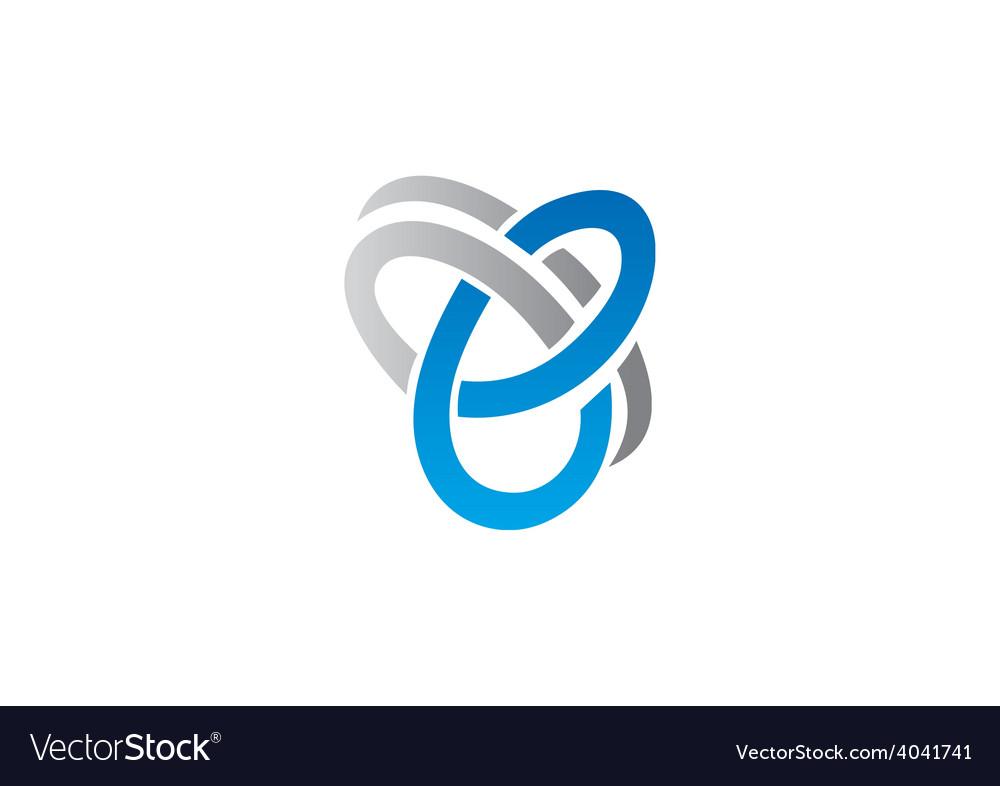 Abstract swirl circle ribbon logo vector   Price: 1 Credit (USD $1)