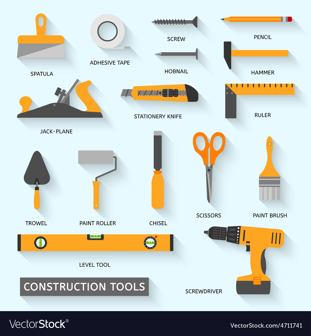 Construction tools icons set vector | Price: 1 Credit (USD $1)