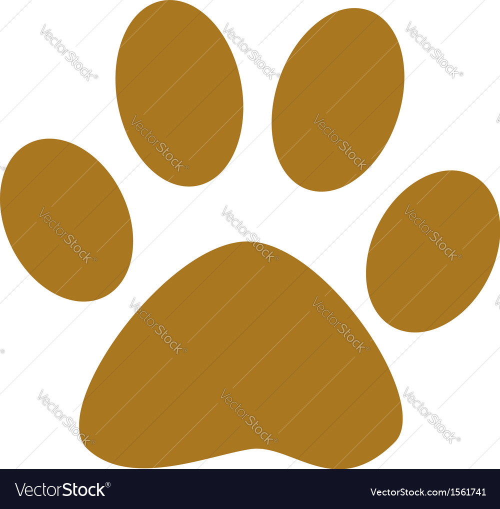 Dog paw print vector | Price: 1 Credit (USD $1)