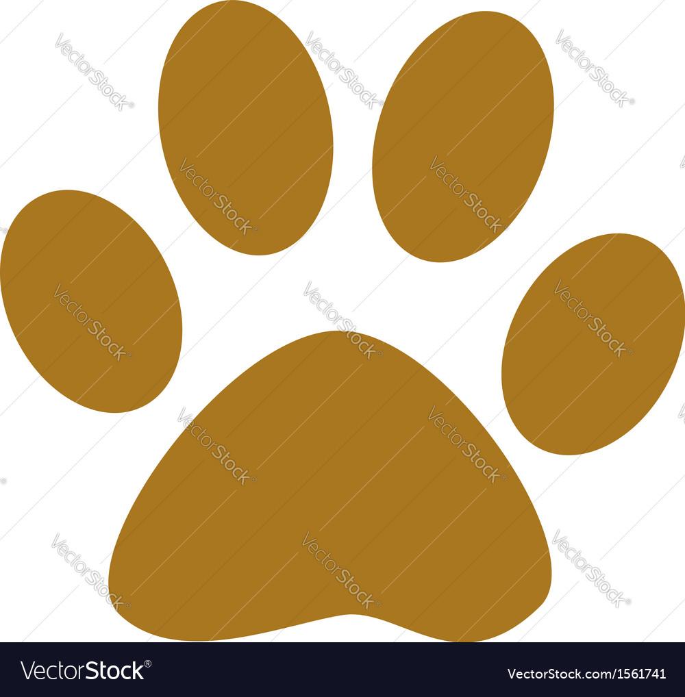 Dog paw print vector | Price: 1 Credit (USD $1)