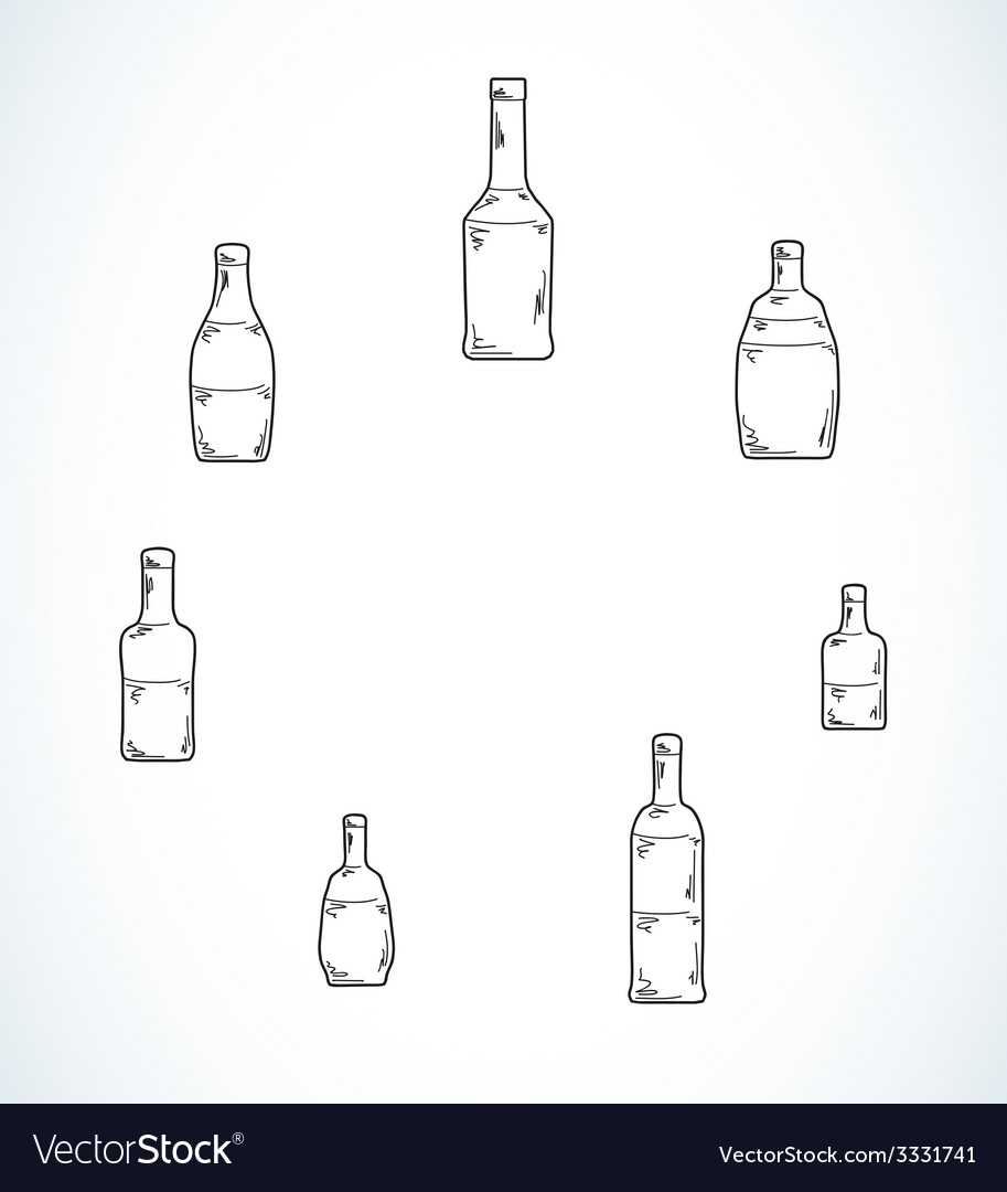 Few different bottles vector | Price: 1 Credit (USD $1)