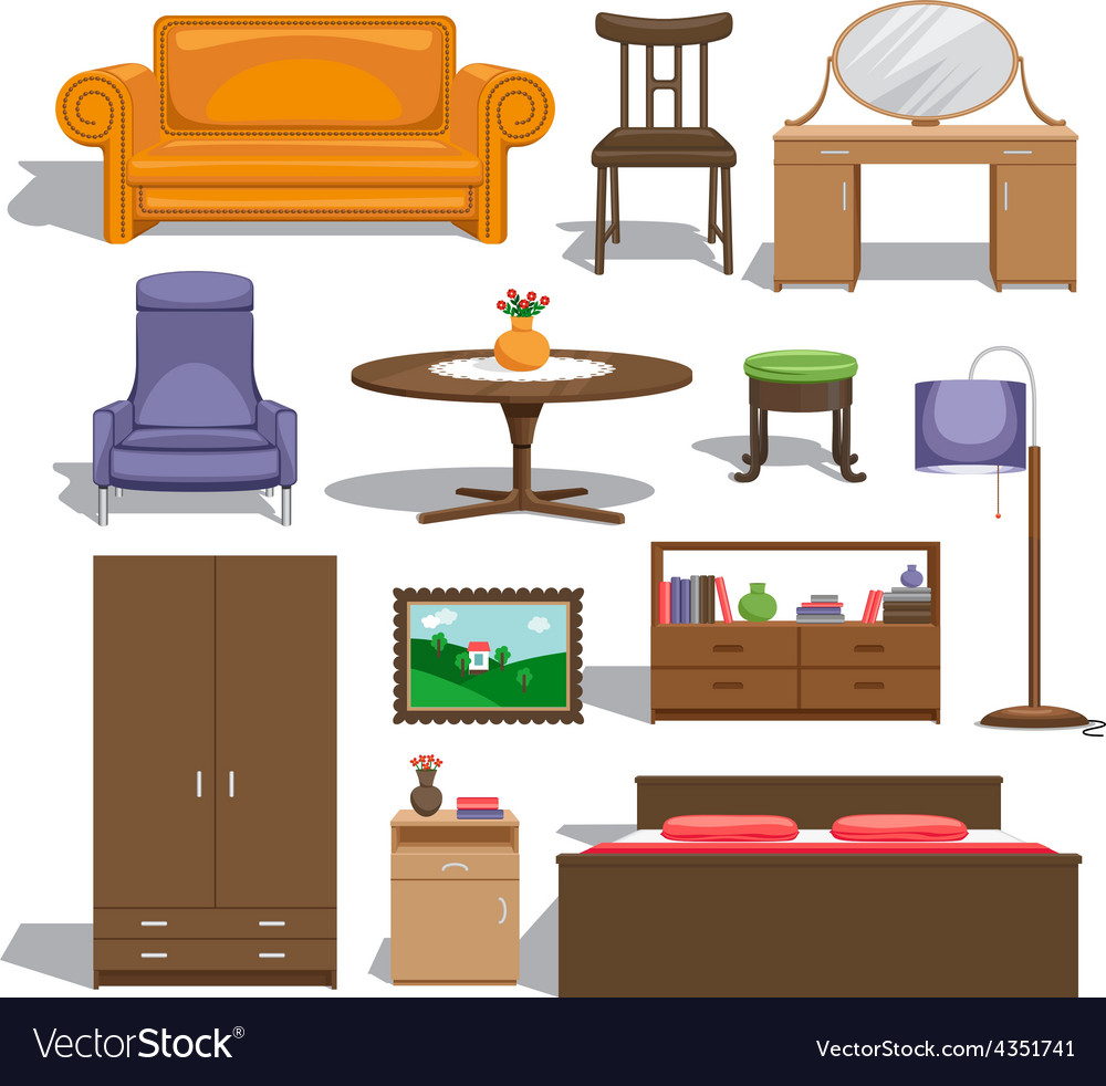 Furniture for bedroom vector | Price: 1 Credit (USD $1)