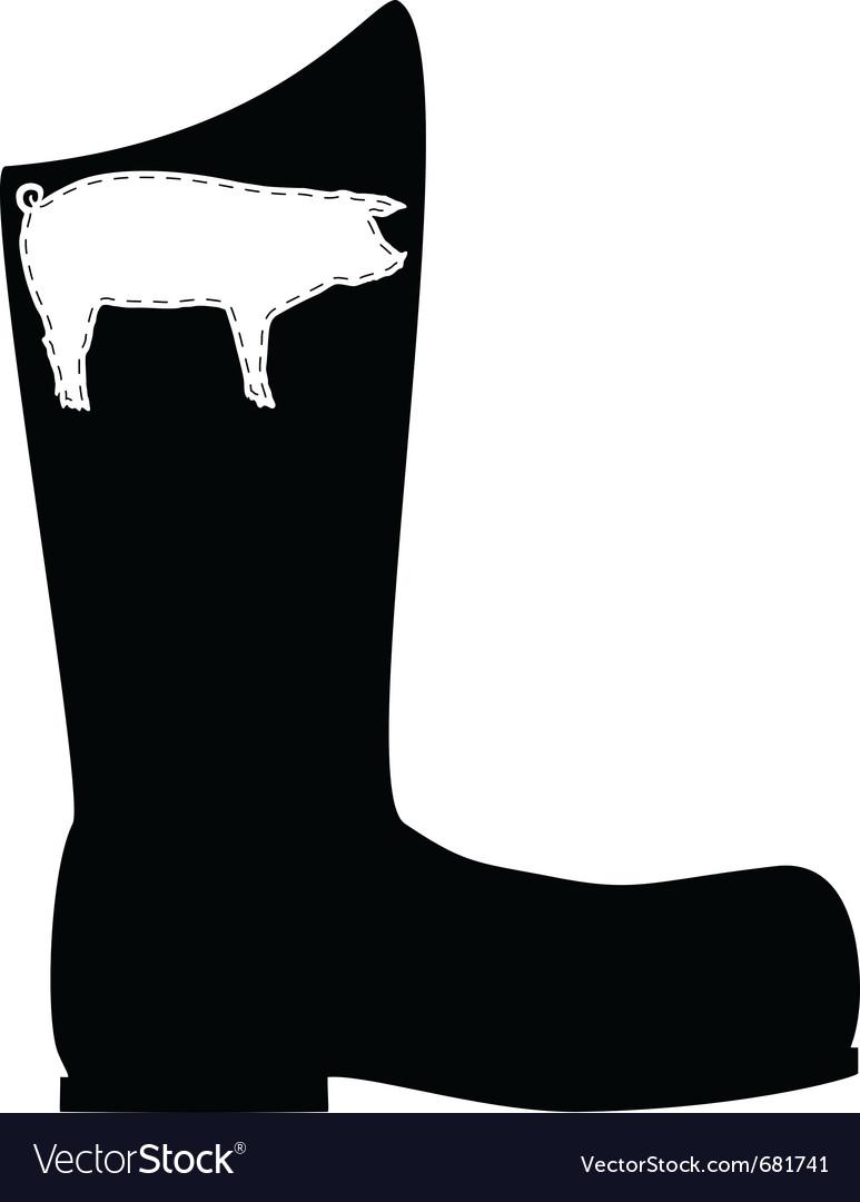 Pigskin boots vector | Price: 1 Credit (USD $1)