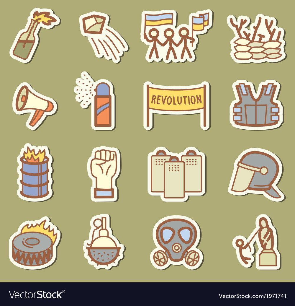 Revolution icons vector | Price: 1 Credit (USD $1)