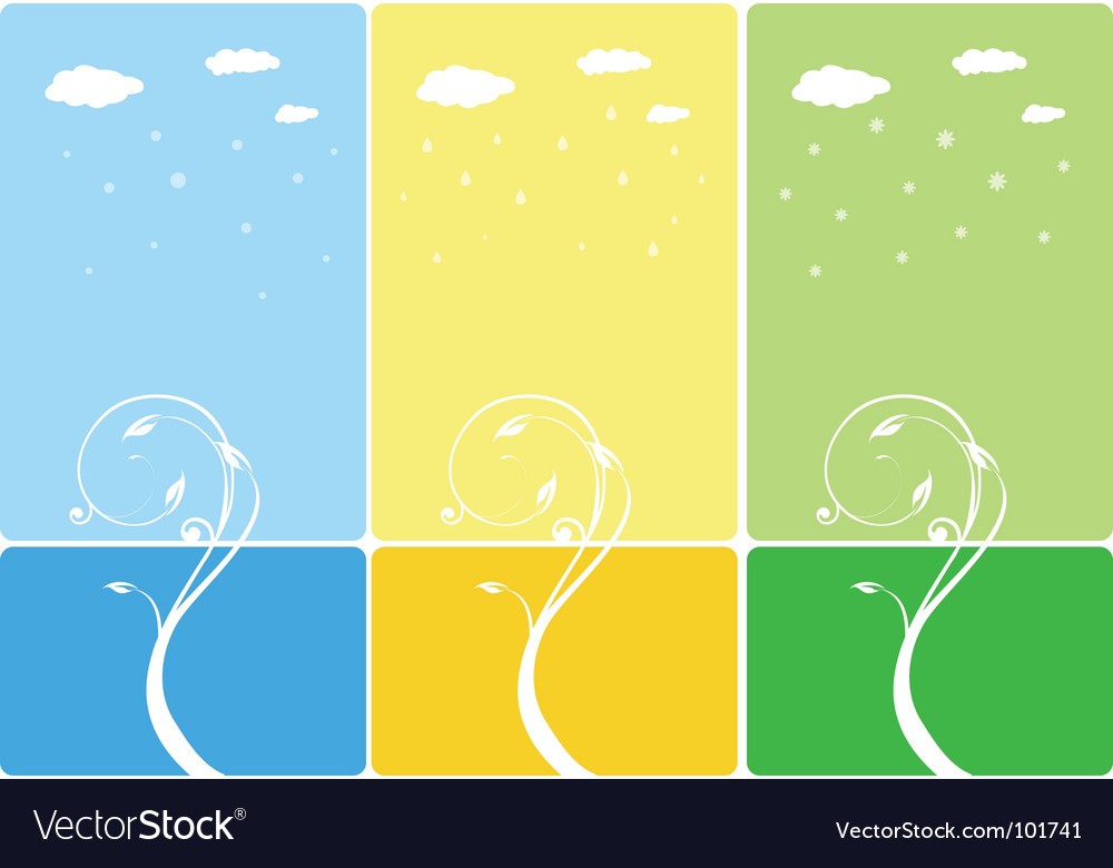 Seasonal banners background vector | Price: 1 Credit (USD $1)