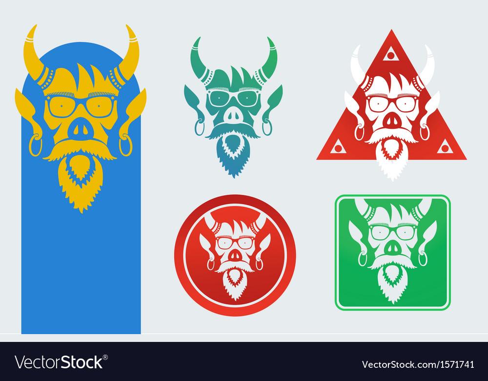 Set of masks devil vector | Price: 1 Credit (USD $1)