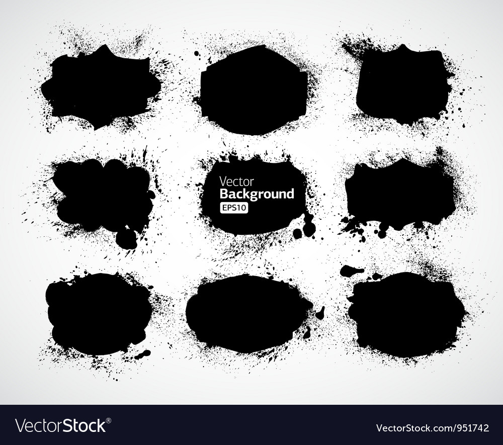 Abstract ink draw shapes vector | Price: 1 Credit (USD $1)