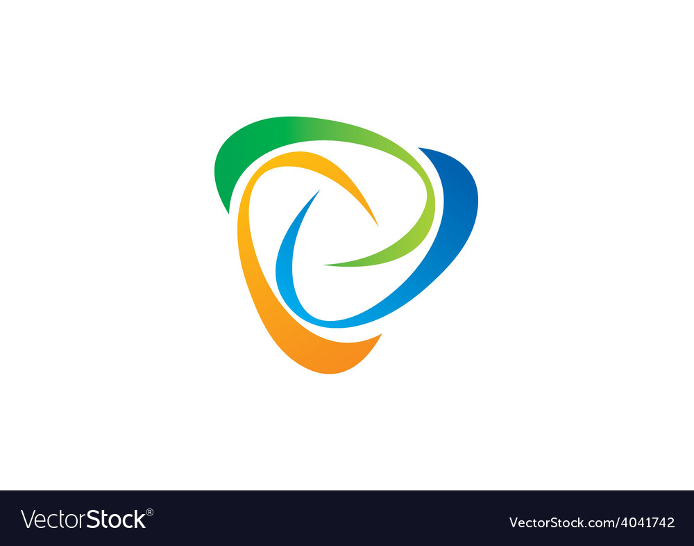 Abstract swirl circle logo vector | Price: 1 Credit (USD $1)
