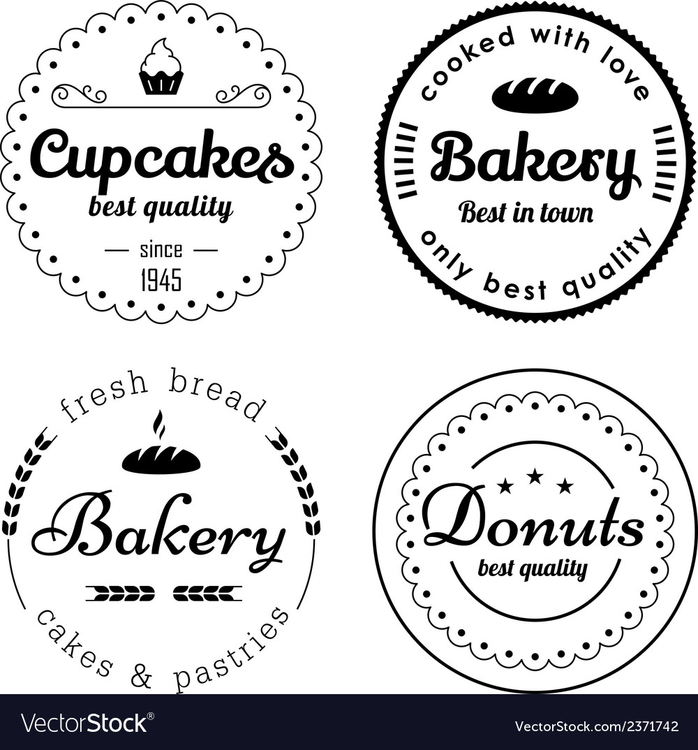 Bakery and cupcakes labels vector | Price: 1 Credit (USD $1)